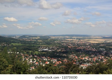 view from burgberg over bad harzburg