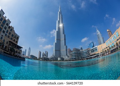 View of Burj Khalifa, the tallest man made structure in the world, measuring 830 meters