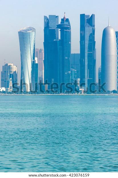 View Business Center Doha Qatar Persian Stock Photo (Edit Now) 423076159