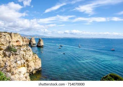 View by the cliff, Ponta da Piedad, Lagos, Portugal