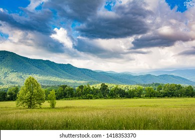 A view from Cades Cove loop in the Great Smoky Mountains National Park