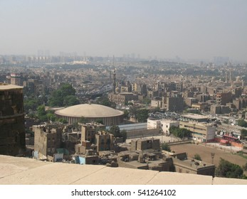 view of Cairo city, islamic architecture in Egypt