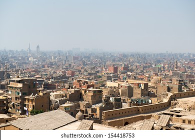 View of Cairo slums from Citadel. Cairo, Egypt.