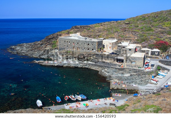 View of Cala Tramontana in Pantelleria, Sicily