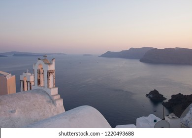 View of Caldera Oia Santorini Greece