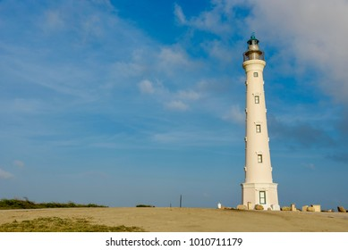 View of the California Lighthouse in Noord, Aruba.