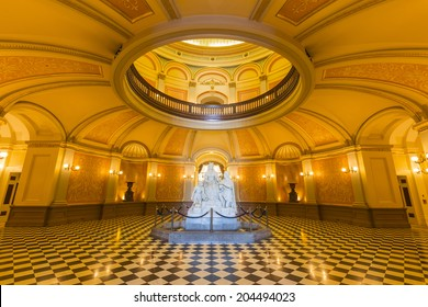View of the California State Capitol rotunda.