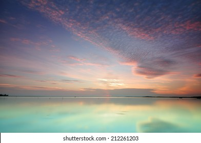 View Of Calm Lagoon During Sunrise