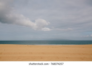 A View of the Calm Pacific Ocean from a Smooth Beach on the Remote Island of Lanai'i, Hawaii