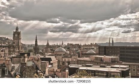 A view from the Calton hill in Edinburgh