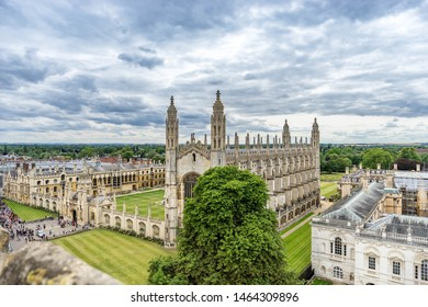 The view of Cambridge with beautiful cloudy sky, UK