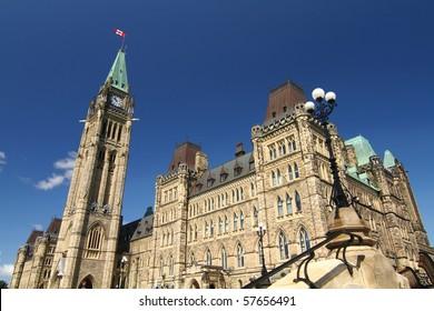 A view of Canada's parliament hill in Ottawa, Canada