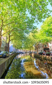 View Of Canal In Gouda, Netherlands