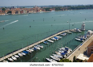 View of Canale di San Marco towards San Giorgio . Venice. Italy