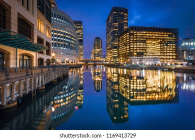 View of Canary Wharf, London, United Kingdom