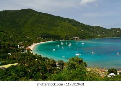 View of Cane Garden Bay on Tortola, British Virgin Islands