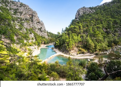 View of canyon Goynuk, located inside the Beydaglari Coastal National Park, Kemer district in Antalya Province, Turkey