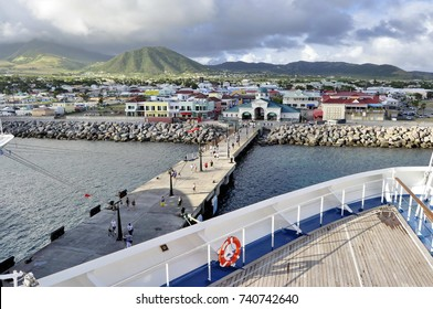 A View of Capital Basseterre, Saint Kitts and Nevis