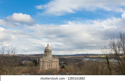 A view of the Capitol Building in Frankfort, Kentucky