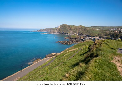 View from the Capstone Hill towards Beacon Point, Ilfracombe, Devon, UK