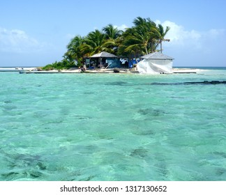 view of Caret Island Guadeloupe France Caribbean