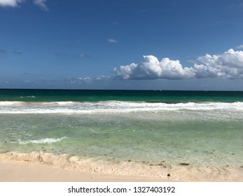 View of the Caribbean Sea in Mexico