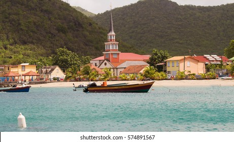 View at the caribbean village, Martinique island, French West Indies.