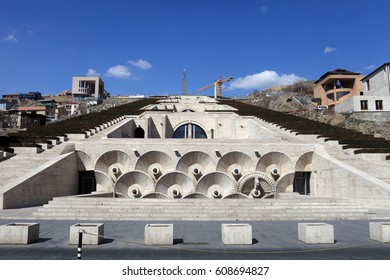 View of Cascade. It is a giant stairway in Yerevan, Armenia