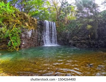 View of 'Cascade Mamzelle' (Mamzelle waterfall) located in the south of Mauritius island