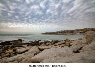 View of the Caspian Sea's coastal city of Aktau, Kazakhstan