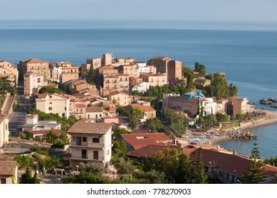 view of Castel di Tusa in Sicily