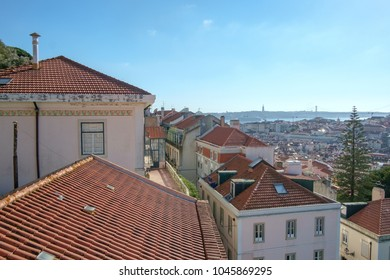 View from the Castelo de Sao Jorge over Lisbon, Portugal.