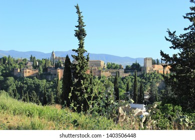 View of the castle of the city of Granada in Spain