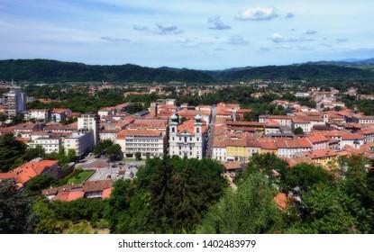 View from the castle of Gorizia. Gorizia, Friuli Venezia Giulia - Italy