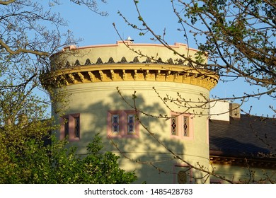 View of the Castle of Herrnsheim (in Worms, Germany): an old medieval castle, re-built in Baroque style and then again in French Empire style in the early 1800s.