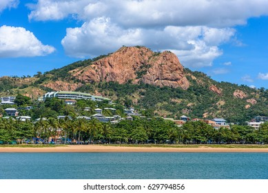 A view of Castle Hill in the center of Townsville, Queensland, Australia