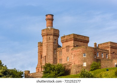 View of the castle of Inverness in Scotland.