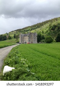 A view of Castle Menzies near Aberfeldy in the Highlands of Perthshire, Scotland, Europe on Tuesday, 4th, June, 2019