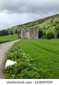 A view of Castle Menzies a tower house near aberfeldy in the Highlands of Perthshire, Scotland, Europe on Tuesday, 4th, June, 2019