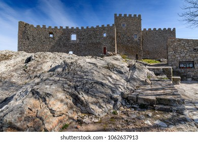 view of the castle of Montanchez, Caceres, Extremadura, Spain