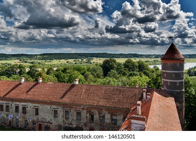 View from castle Panemune in Lithuania