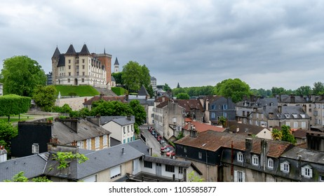 a view of castle of Pau city in France