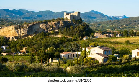 View to the castle of Vaison la Romaine in Provence