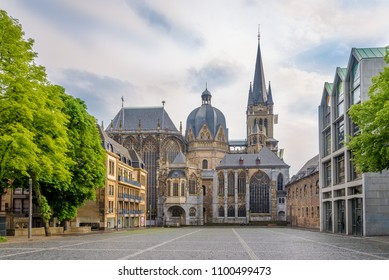 View at the Cathedral of Aachen in Germany
