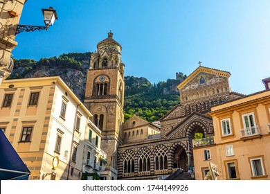 View of the Cathedral, Amalfi Coast, Italy, Europe