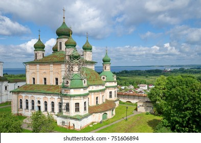 View of the Cathedral of the Assumption of the Blessed Virgin Mary in Goritsky Assumption Monastery in Pereslavl-Zalessky, Yaroslavl Region, Russia