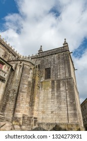 View at the Cathedral and Cloister building in Viseu. The origins of the city of Viseu date back to the Celtic period.