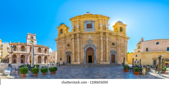 View of the cathedral of Marsala, Sicily, Italy