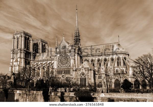 View Cathedral Notre Dame De Paris Stock Photo Edit Now