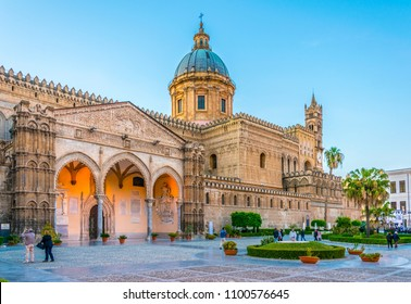 View of the cathedral of Palermo, Sicily, Italy